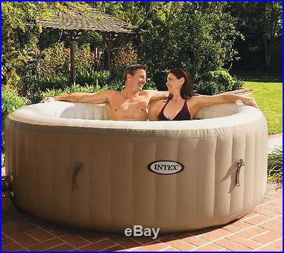 Intex PureSpa 4 Person Inflatable Heated Bubble Hot Tub Pure Spa Portable 28403E