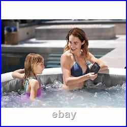 Intex PureSpa Greywood 6 Person Inflatable Hot Tub Jet Spa, Gray (Open Box)