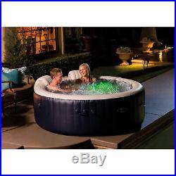 Intex PureSpa Plus 4 Person Portable Inflatable Hot Tub Bubble Jet Spa, Blue
