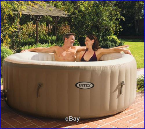 Intex PureSpa Portable 4 Person Inflatable Bubble Soft Hot Tub 28403E Pure Spa