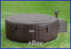 Intex Pure Spa 4-Person Inflatable Jet Massage Hot Tub with Six Filter Cartridges