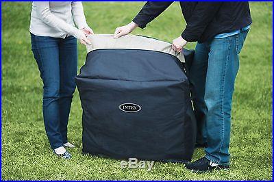 Intex Pure Spa 4 Person Inflatable Portable Heated Bubble Hot Tub Model 28403E