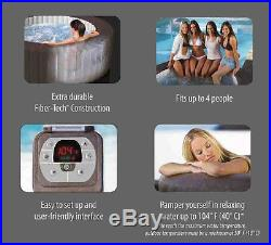 Intex Pure Spa 4-Person Inflatable Portable Jet Massage Heated Hot Tub 28421E