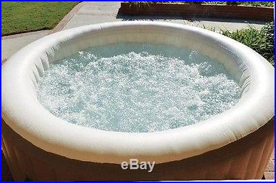 Intex Pure Spa 4-Person Outdoor Jacuzzi Inflatable Patio Hot Tub