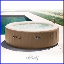Intex Pure Spa 6-Person Inflatable Portable Heated Bubble Massage Hot Tub 28407E