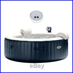 Intex Pure Spa Inflatable 6-Person Bubble Hot Tub & PureSpa Battery LED Light