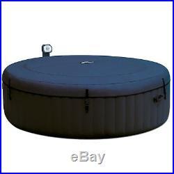 Intex Pure Spa Inflatable 6 Person Outdoor Bubble Hot Tub + Non Slip Seat Insert