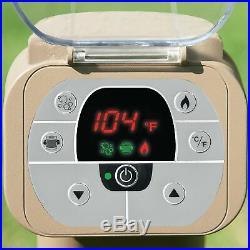 Intex Pure Spa Portable Inflatable Bubble Jet Massage Heated Hot Tub & LED Light