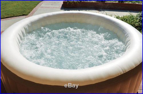 Intex Pure Spa PureSpa Portable 4 Person Inflatable Bubble Soft Hot Tub 28403E