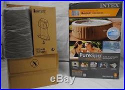 Intex Purespa Bubble Therapy Inflatable Portable Hot Tub Spa