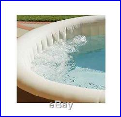 Intex Spa Jacuzzi Inflatable Portable Bubble Massage 4 Person Hot Tub PureSpa