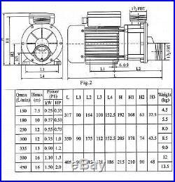 JA50 JA 50 LX circulation pump SPA pump whirlpool hot tub water 0.5 HP 370 W