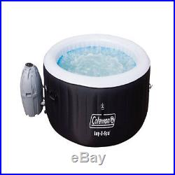 Jacuzzi Hot Tub Portable Spas 4-Person Spa Tubs Inflatable Outdoor Black Coleman