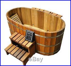 Japanese Wood Ofuro Soaking Tub for 2 Wood Fired Heater