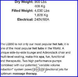 LE850 Premium Leisure Hot Tub Spa. 7 Person. Great Condition