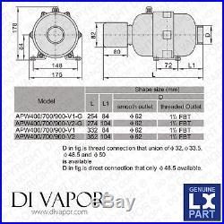 LX APW400 V2 Air Blower Pump 0.5 HP (With Heater) 400W + 180W Hot Tub Spa