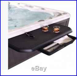 Large Hot Tub Spa Caddy Tray Table For Towels Drinks Food Bar with Pull Out Draw