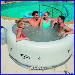 Lay-Z-Spa Paris Air Jet Inflatable Hot Tub Spa with LED Lights For 4-6 Person