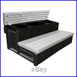 Leisure Accents 36 Deck Patio Spa Hot Tub Storage Compartment Steps (Open Box)