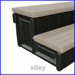 Leisure Accents 36 Deck Patio Spa Hot Tub Storage Compartment Steps, Portabello