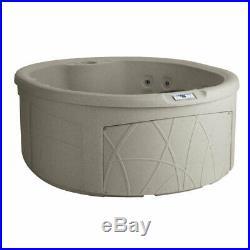 LifeSmart Key Largo DLX 4 Person Oval 20 Jet Plug and Play Hot Tub Spa, Sand