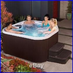 Lifesmart Spas Home 22 Jets 5 Person Hot Tub with Multi Color LED Lights LS400DX