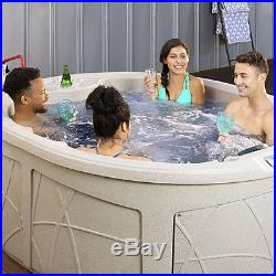 Lifesmart Spas LS200 4 Person Plug In & Play Oval Home Sauna Hot Tub with Cover