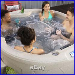 Lifesmart Spas LS200-T 4 Person Plug In & Play Oval Home Sauna Hot Tub and Cover