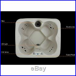 Lifesmart Spas Rock Solid Simplicity 4 Person Hot Tub Spa No Cover (Used)