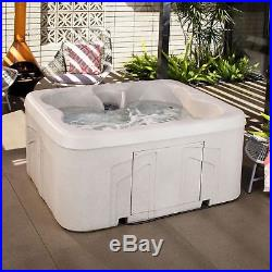 Lifesmart Spas Rock Solid Simplicity 4-Person Plug & Play Hot Tub Spa with Cover