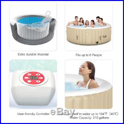 Luxurious Black Comfortable Inflatable Indoors And Outdoors Jacuzzi Hot Tub Spa