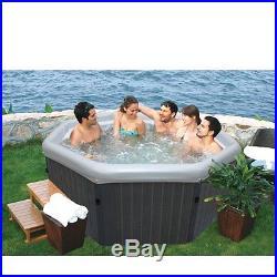 MSpa Luxury Tuscany Octagonal Bubble & Jet Spa 4-5 Person Hot Tub PM-610S