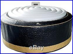 MSpa Premium Exotic Hot Tub, 4 Person Inflatable Black Bubble Spa / M-113S
