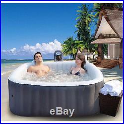 M Spa Model B-90 Apline 2 Person Inflatable Bubble Spa Hot Tub / Black