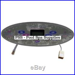 Marquis Spas Topside Panel, MTS99, 6 Button 650-0475 (With Overlay 650-0520)