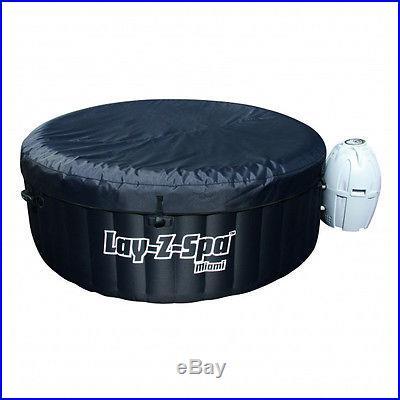 Miami Splash Portable Hot Tub 4 Person Inflatable Bubble Spa 54124 in Box