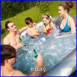 Mspa Alpine Delight Bubble Spa 4 Seat Person Inflatable Hot Tub Massage Jacuzzi