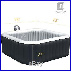 Mspa Inflatable Hot Tub 6-Person Outdoor Jets Portable Heated Bubble Massage Spa