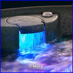 NEW 5 PERSON HOT TUB w LOUNGER 29 JETS OZONE SYSTEM COBBLESTONE