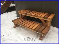 NEW Cedar Steps/Stairs for Hot Tub / Spa / RV / Trailer WIDE & STURDY