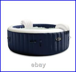 NEW Intex PureSpa Plus 6 Person Inflatable Hot Tub, Navy (Just The Hot tub)