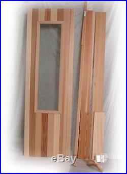 New Insulated Cedar Sauna Door With Glass Window