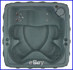 ONE DAY SALE 5 PERSON HOT TUB with LOUNGER 29 JETS- WATERFALL OZONE GREY