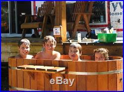 Ofuro Japanese soaking hot tub 2 person wooden tub