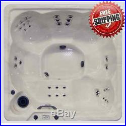 Outdoor Hot Tub Spa 6 Person Jacuzzi Jet Heated Bubble Massage Therapy Pool NEW