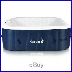 Outdoor Jacuzzi Inflatable Hot Tub Portable Spa 6 Person Hottub Massage Pool New