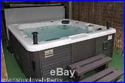 Outdoor Jet Spa 5 Person Adjustable Stainless Steel Family Hot Jet Spa Tub