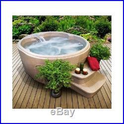 Outdoor Spa Hot Tub Patio Deck 4 Person Backyard Heated Massage Jets Garden 110