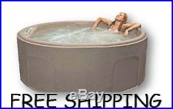 Outdoor Spa Hot Tub Patio Jacuzzi 12-Jets Deck 4 Person Heated Massage Garden