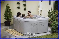 Outdoor Spa Hot Tub Patio Jacuzzi 12-Jets Deck 4 Person Waterfall Energy Cover